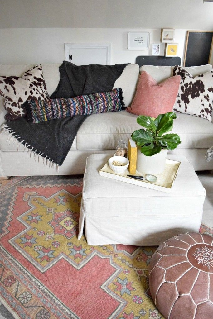 Bohemian diy rug turned pillow32 best Home Decor images on Pinterest   Cable knit throw  Cable  . Diy Boho Chic Home Decor. Home Design Ideas