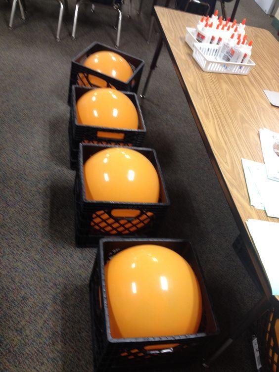 My wonderful aid, Nancy & I had this idea for our Kinder classroom…