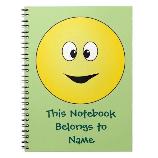 Funny Cartoon Smiley Face Spiral Notebook