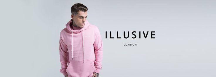 Illusive London Oversize Kangaroo Hoodie – Pink