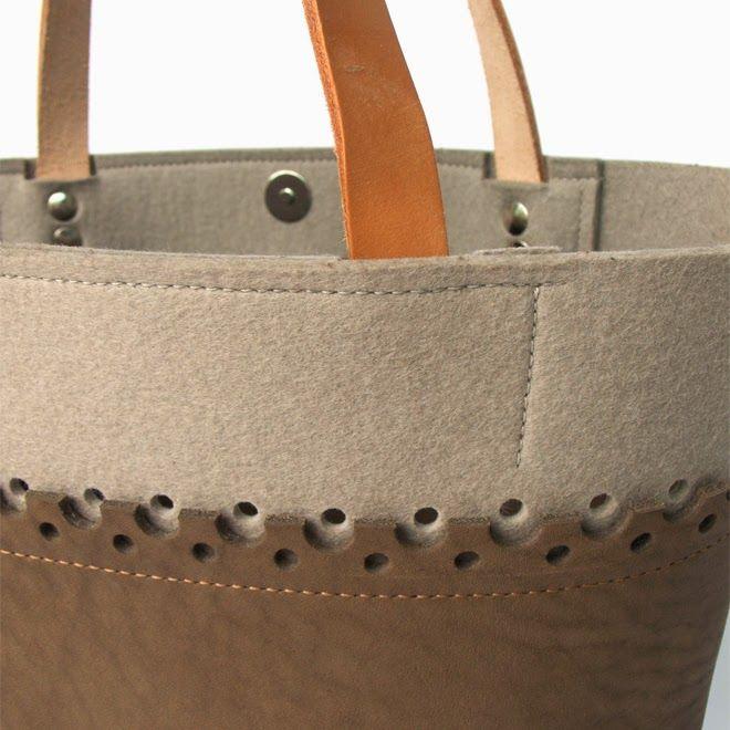BAG: leather + felt http://marieladias.blogspot.pt