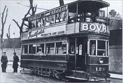 Glasnevin to Dolphins Barn, tram, Dublin. Closed 1939.
