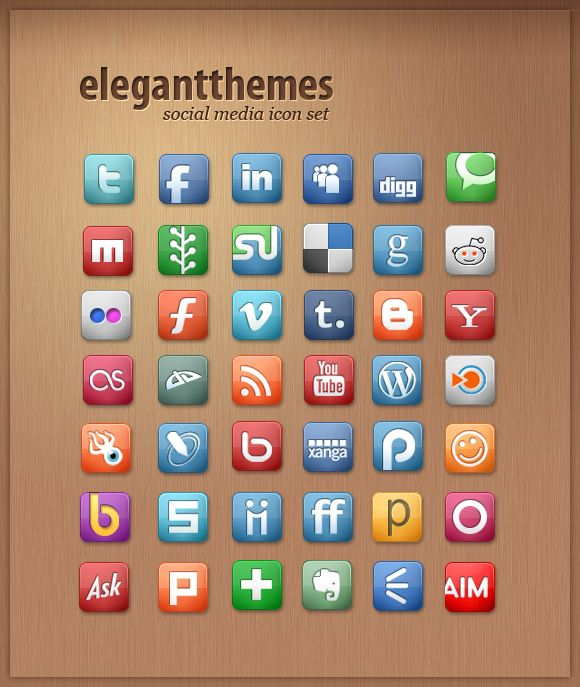 These are some beautiful (and free) social media icons.