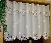 Nuevo Lujo Amarillento Británico Medio-cortina Bordada Ventana Cenefa Cortinas Opacas para Mueble de Cocina Puerta de tamaño Personalizado A-008(China (Mainland))