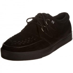 TUK A6061 Black White Suede Mens Creepers