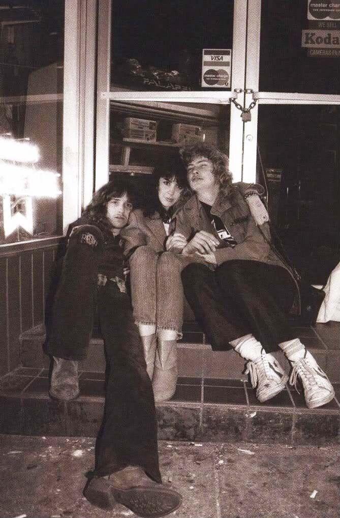 Cliff Burton, his girlfriend Corinne Lynn and Dave Mustaine