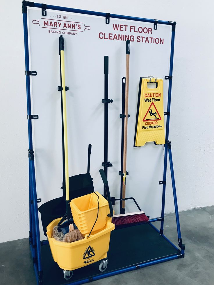 Free Standing 5S Shine Board Health and safety poster