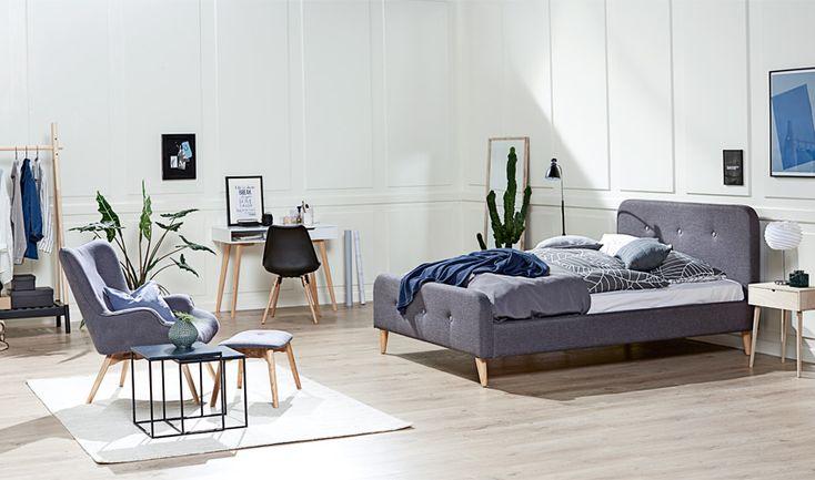 Classic retro KONGSBERG sänky + EJERSLEV nojatuoli