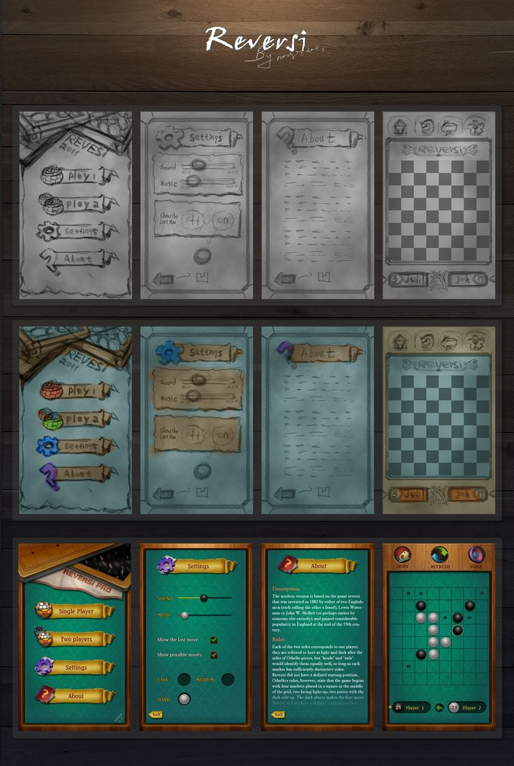 game UI skecth process