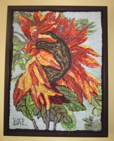 deanne fitzpatrick sunflowers hooked rug - Google Search
