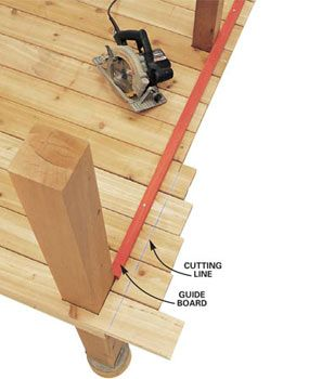 Techniques for building decks, stairs and railings