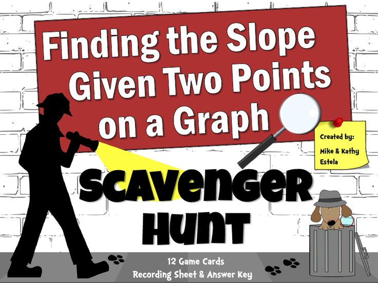 "FREE MATH LESSON - ""Finding the Slope of Two Points on a Graph - Scavenger Hunt {FREE}"" - Go to The Best of Teacher Entrepreneurs for this and hundreds of free lessons.  8th - 10th Grade  #FreeLesson  #Math  http://www.thebestofteacherentrepreneurs.net/2013/12/free-math-lesson-finding-slope-of-two.html"