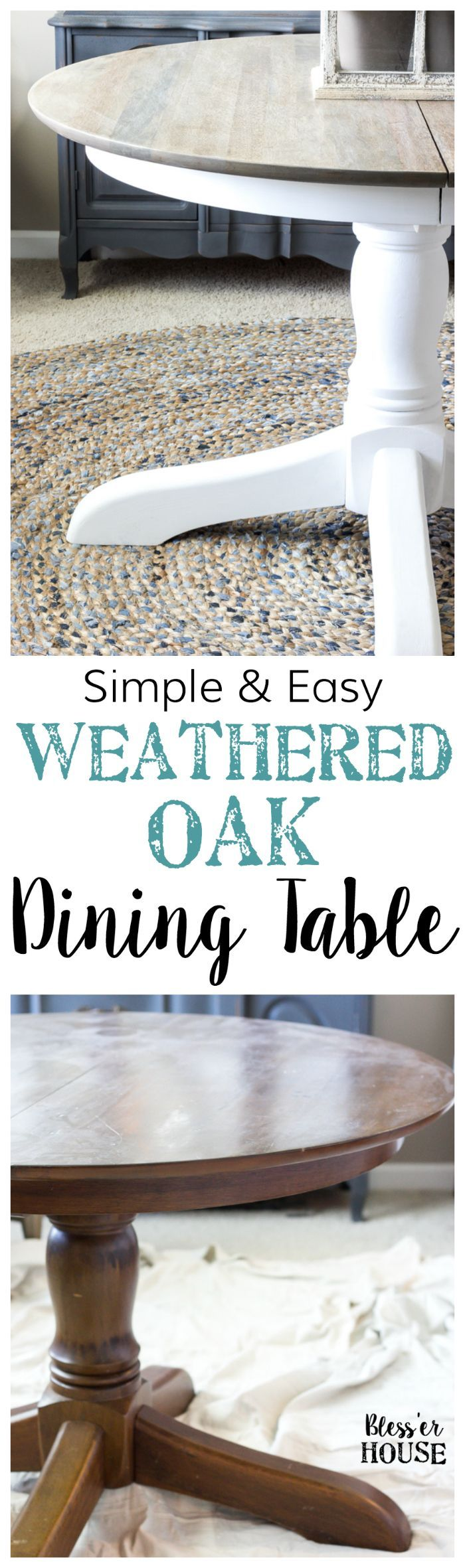 Weathered Oak Dining Table Makeover 479 best