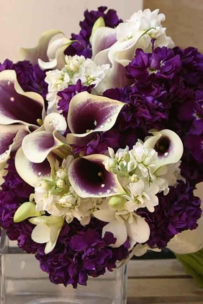 24 Purple Wedding Bouquets 11