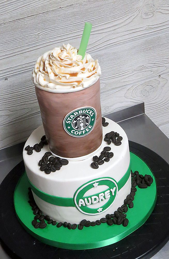 Cool Starbucks Cappuccino Cake With Images Starbucks Cake 14Th Funny Birthday Cards Online Unhofree Goldxyz
