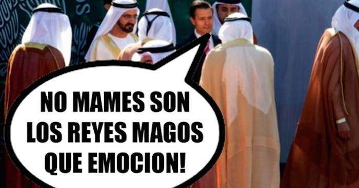 Los usuarios de las redes sociales no perdieron tiempo y ya circulan un gran número de memes de la visita oficial del Presidente Enrique Peña Nieto al Medi