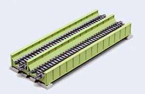 N Double Track P/Girder Bridge (Grn) | Hobbyco