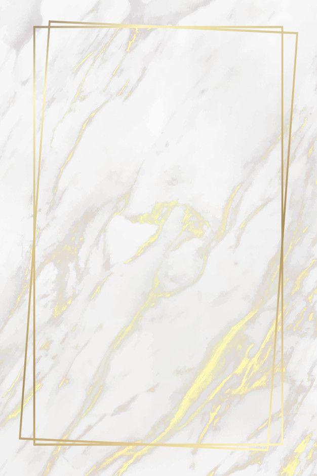 Goldener rahmen auf marmorhintergrund Kostenlosen …
