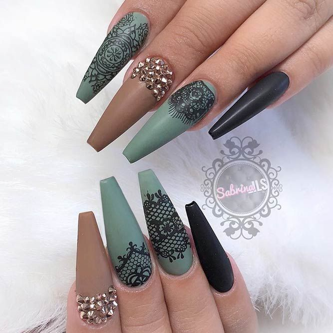 21 Cool Coffin Shape Nails Designs To Copy In 2018 Nails Nails