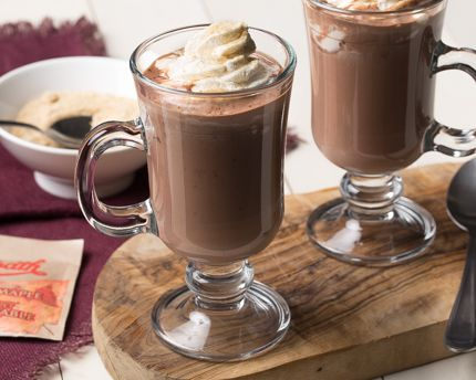 There's nothing like a rich and frothy mug of steaming hot chocolate to warm you right down to the bones. This version is sinfully rich and chocolatey, with a tantalizing touch of maple mixed in. The adults-only whipped cream takes it to a whole new level of irresistible decadence. After a busy day, relax and reward yourself with a mug of pure indulgence.