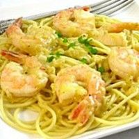 Elegant Shrimp Scampi Pasta Lightened Up  Our beautiful Cooked, Peeled and Deveined shrimp our featured in this zingy recipe!  Recipe: http://www.freshseafood.com/world-famous-recipes/elegant-shrimp-scampi-pasta-lightened-up.html