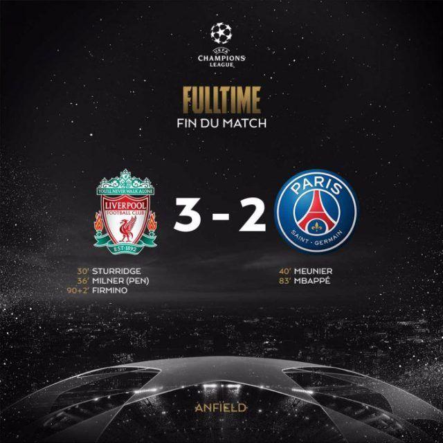 Liverpool vs PSG 3-2 3gp Highlights MP4 VIDEO DOWNLOAD
