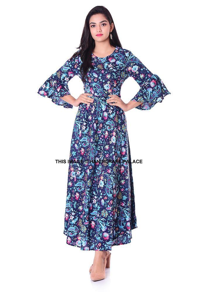 a0fdca57b8cd3 Indian Exclusive Designer Ethnic Womens Kurta Kurti Long Gown Dress Rayon  Tunic  fashion  clothing  shoes  accessories  womensclothing  dresses (ebay  link)