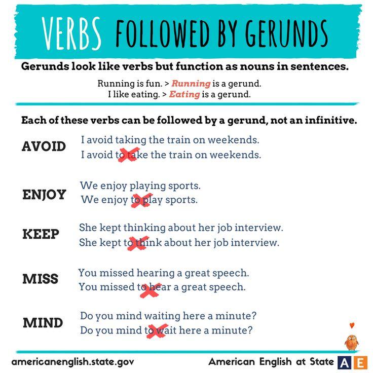 128 best gerunds/infinitives images on Pinterest | English grammar ...
