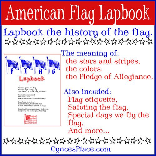 Free American Flag Lapbook