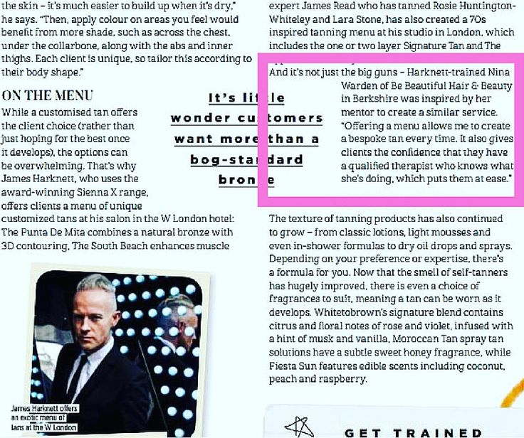 My first ever #feature in Pro Hair & Beauty magazine with the incredible James Harknett. Honoured to share the same page as my tanning guru. #siennax #spraytanartist