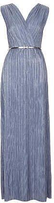Womens light blue grey wrap dress from Topshop - £31 at ClothingByColour.com