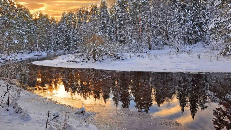 Фото: December. Evening on the river. #Russia #landscape #nature #river #winter #evening Full size pics can be found here: http://submit.shutterstock.com/?ref=1746158 http://www.dreamstime.com/Skostin1951_info#res13215639 http://ru.123rf.com/profile_skostin1951/#skostin1951 https://ru.fotolia.com/p/206098108/partner/206098108 http://depositphotos.com?ref=7099270