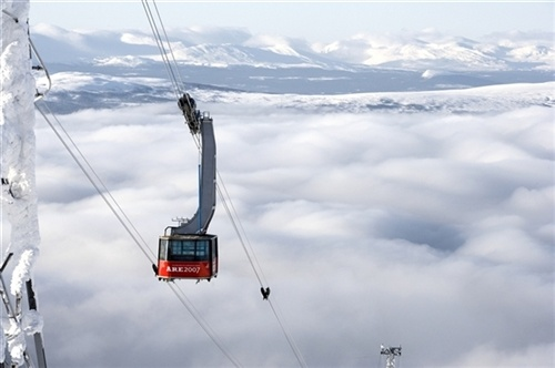 The popular ski resort Åre, the birthplace of Peak Performance