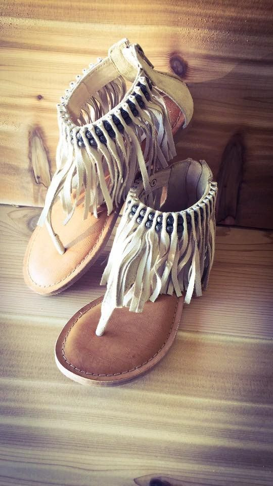 Fringe Cream Not Rated Sandals