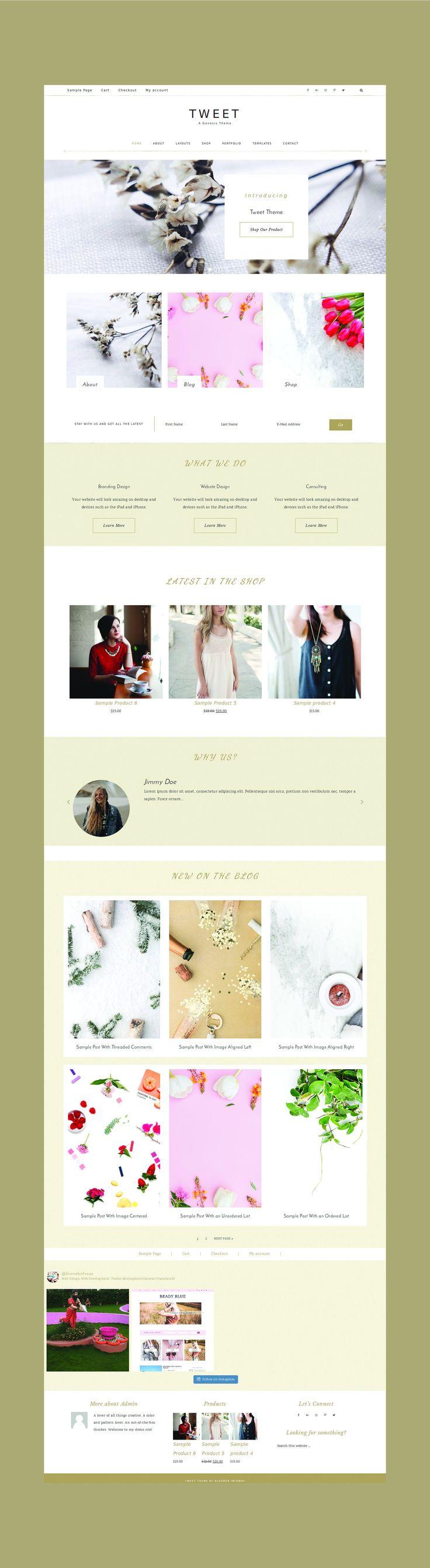 minimal theme woocommerce theme genesis theme portfolio theme ecommerce theme fashion theme one page theme parallex theme feminine theme wordpress theme responsive theme  #fashion #style #shopping