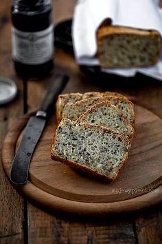 Chleb bg przepis podstawowy - z mixu mąk (1 woreczek zmielonej kaszy gryczanej +2 w ryżu + 1 w kaszy jaglanej +  100g mąki ziemniaczanej)