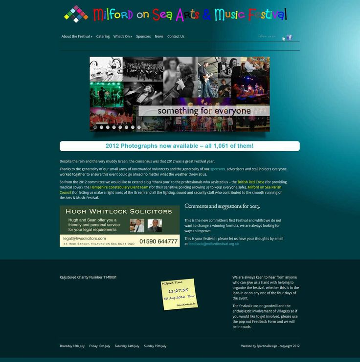 Local Music & Arts Festival website - designed by committee (you can tell)