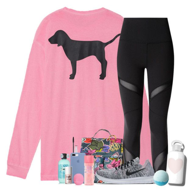 """‍♀️"" by southernstruttin ❤ liked on Polyvore featuring Victoria's Secret, lululemon, Vera Bradley, MAC Cosmetics, NIKE, Eos, Bumble and bumble, bkr, Melissa Joy Manning and Benefit"