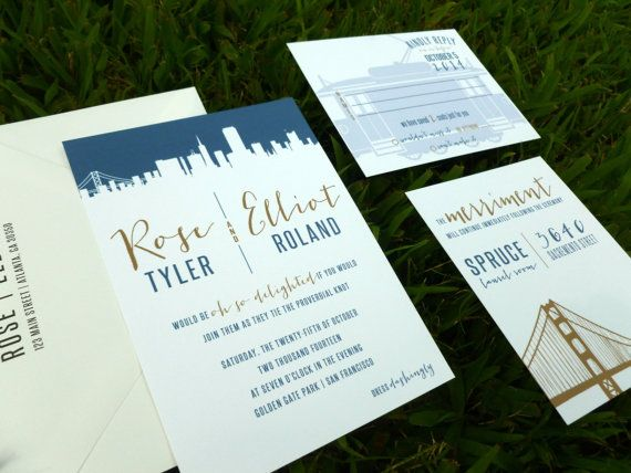 City Skyline Wedding Suite SAMPLE by dhfitzgeralddesigns on Etsy, $3.00