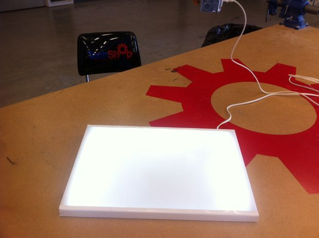 Picture of Inexpensive DIY LED Lightbox for Tracing