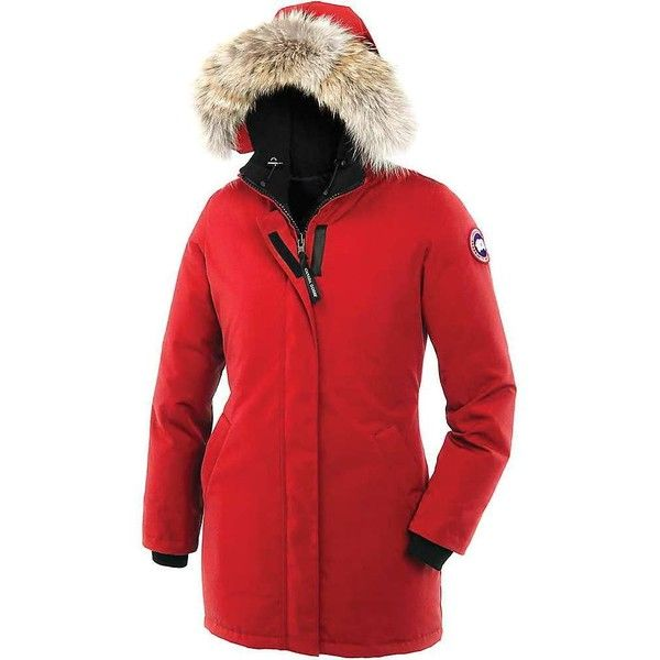 Canada Goose Women's Victoria Parka ($850) ❤ liked on Polyvore featuring outerwear, coats, red, red coat, red parkas, canada goose coats, canada goose parka and canada goose