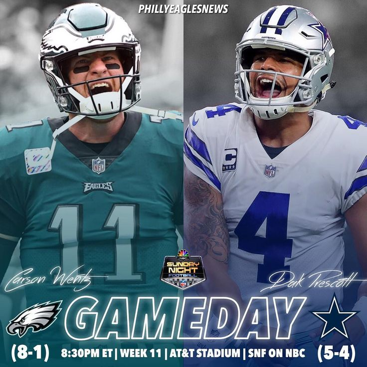 ITS GAMEDAY! The Eagles are fresh off the bye and travel to Dallas to take on the Dallas Cowboys on Sunday Night Football. Ronald Darby is BACK; its his first action since week one. Eagles can really put themselves in the drivers seat of the NFC East with a win tonight.  #BeatDallas  #EaglesNation #Eagles #Philly #Philadelphia #PhiladelphiaEagles #FlyEaglesFly #BleedGreen