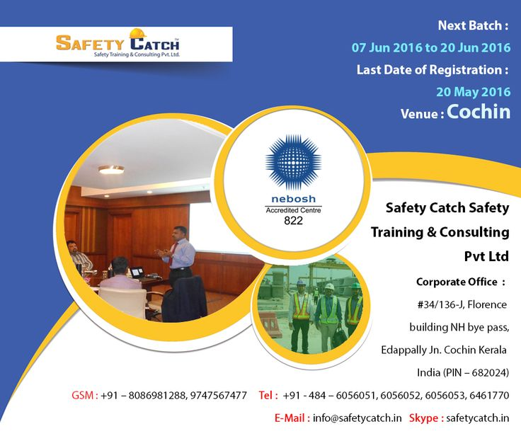 The #NEBOSH International General Certificate is the essential qualification for a #successful career in health and #safety: http://bit.ly/NEBOSH_TrainingProgram Register today for our next training batch!!!