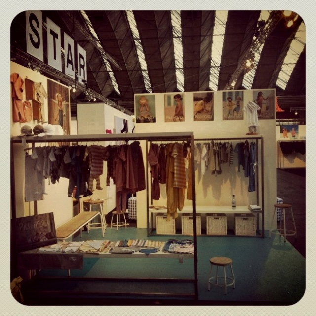 Stand D#04 at Kleine Fabriek, Amsterdam - SS2013 collection. Everything is almost ready for tomorrow morning!