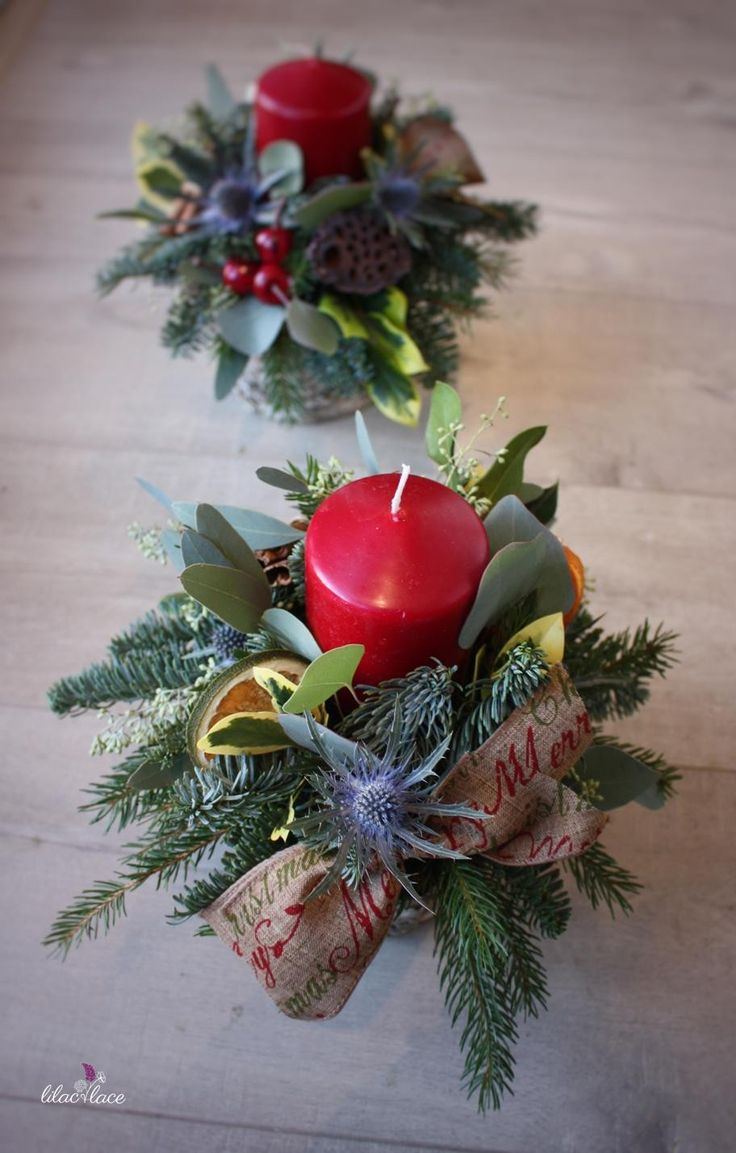 Christmas pots jam-packed with festive foliage and all the trimmings