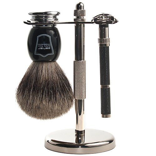 Parker 96R Safety Razor Shave Set – Includes Pure Badger Brush, Stand & Parker 96R Butterfly Open Safety Razor at http://suliaszone.com/parker-96r-safety-razor-shave-set-includes-pure-badger-brush-stand-parker-96r-butterfly-open-safety-razor/