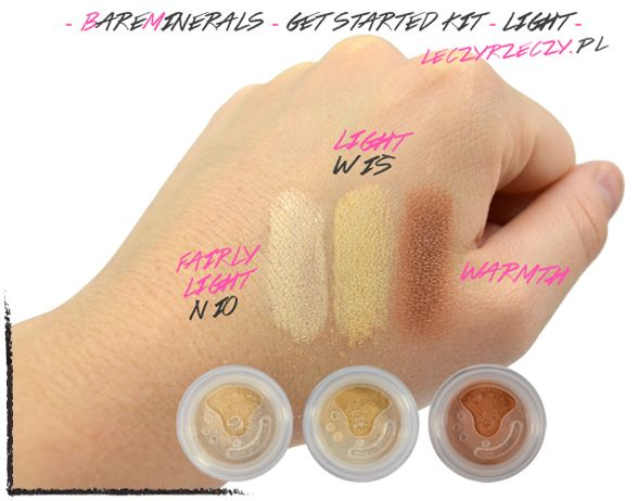 MORE: www.leczyrzeczy.pl/  bareminerals, original foundation, fairy light, light, warmth, bronzer, makeup, swatches, powder,