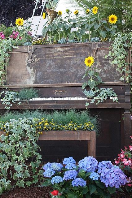 Old Piano In A Garden // Photo By Sarah B In SD, Via