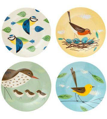 Набор закусочных тарелок Birdy