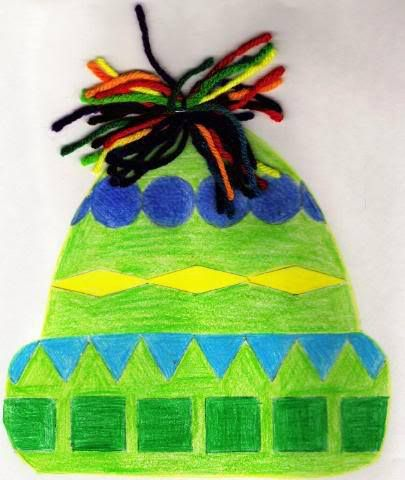 analogous winter hat art project